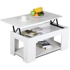 amazon com yaheetech lift top coffee table white kitchen u0026 dining