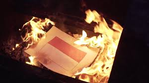 burning the flag of poland stock video footage videoblocks
