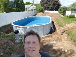 Deep Backyard Pool by Semi Inground Pools Brands Options Prices Reviews And Advice