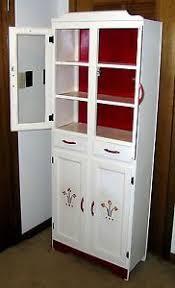 kitchen dish cabinet vintage antique kitchen dish cabinet cupboard 1950 s white red