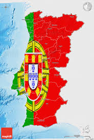 Sea Flag Meanings Flag 3d Map Of Portugal Single Color Outside Shaded Relief Sea