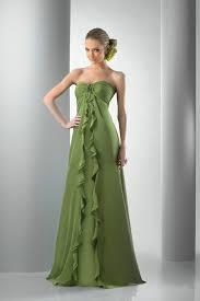 bridesmaid dresses online sweetheartt ruffled draping floor length chiffon green bridesmaid