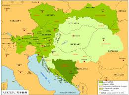 Map Austria Austria 1918 1938 Map Stampworldhistory