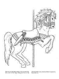 21 coloring pages advanced carousel horses images