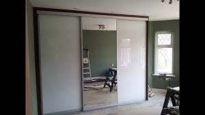 Ikea Closet Doors Custom Made Sliding Door Wardrobe White Glass Mirror Youtube