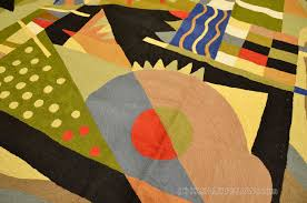 Modern Green Rugs by Kandinsky Modern Wool Rugs Abstract Wall Hangings Accent Rug