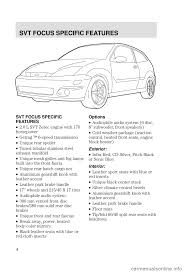 ford focus 2003 1 g svt supplement manual