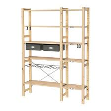 ivar ikea ivar 2 sections shelves drawers pine grey 134x30x179 cm ikea