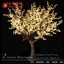 pink color artificial cherry blossom tree with led light for