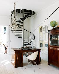 compact metal staircase idea for small space with unique design
