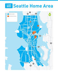 seattle map usa where to drive car2go seattle