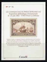 Cv Quebec by Weeda Canada International Philatelic Exhibition Cards 1 3 1981