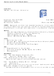 Resume Sample For Internship Pdf by Industrial Engineer Sample Resume Splixioo