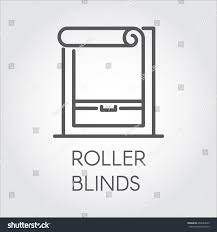 window roller blinds icon outline style stock vector 659094523