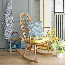 Small Rocking Chair Living Room Small Living Room Rocking Chair Plumped Cushions In