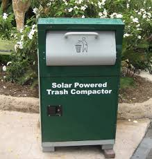robot trash cans do the dirty work for a clean environment