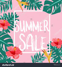 summer sale summer sale flower design vector stock vector 595031006