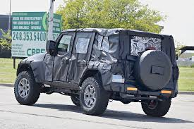 jeep rubicon offroad 2018 jeep wrangler jl spied shows new hardware autoevolution