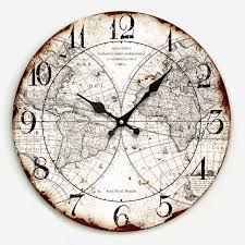 Decorative Wall Clocks For Living Room Oh Boy I Love Clocks And Maps More Than Most Things Playing