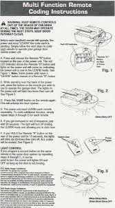 Overhead Garage Door Remotes by Overhead Door Remote Programming Instructions Newdecordesign
