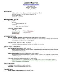 Student Job Resume by Sample Resume For Teenagers First Job Free Resume Example And