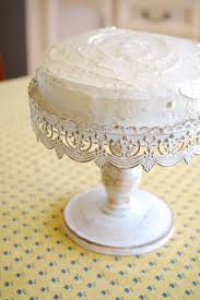 metal cake stand stand white metal 10in