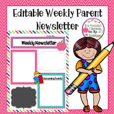 editable parent newsletter template weekly classroom letter tpt