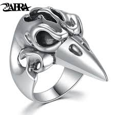 gothic rings silver images Zabra real genuine 925 sterling silver big ring for men animal jpg