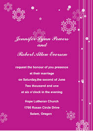 Invitation Card Size Cute Snowflakes Wedding Invitations Ins051 Ins051 0 00