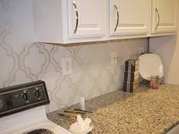 Backsplash In The Kitchen For The Kitchen Backsplash Use A Stencil And Paint In With An