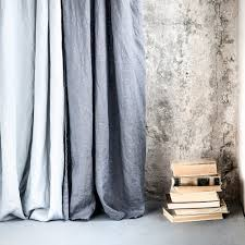 Grey Linen Curtains Grey Graphite Washed Linen Curtains Linen Drapes In
