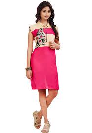 pink pure cotton kurti pink pure cotton patch patta work kurti