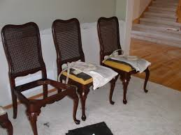 Recover Chair Stylish Design Reupholster Dining Room Chairs How To Recover