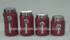 decorative kitchen canisters ceramic jars with spoon buy ceramic