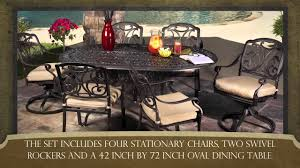 paulo 7 piece outdoor dining collection youtube