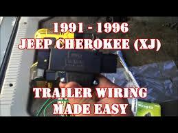 1991 1996 jeep cherokee xj trailer wiring made easy youtube