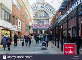 a busy winter gardens shopping centre blackpool lancashire uk