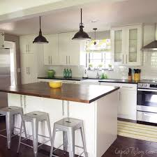 One Wall Kitchen Ideas by One Wall Kitchen Designs With An Island Remodelaholic Popular