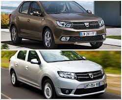 renault logan 2017 dacia logan facelift photo comparison so what u0027s new