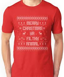 merry you filthy animal white type unisex t shirt