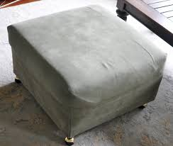 Diy Reupholster Ottoman by No Sew Upholstered Ottoman Diy Project For About 20