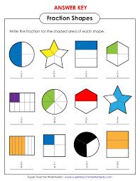 shaded fractions worksheet worksheets