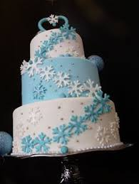 snowflake wedding cake really like this idea but will need red