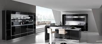cuisine noir laqué cuisine lustre laqué et noyer fineline plaqué photo 17 20