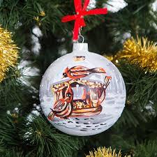 amazon com handpainted glass christmas ornaments tree balls 100mm