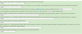 new sources of water pollution must install what t chegg com