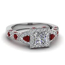 ruby rings price images Square art nouveau halo diamond engagement ring with ruby in 18k jpg