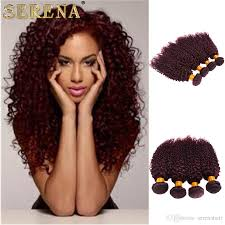 Skin Weft Seamless Hair Extensions by Cheap 2017 New Style Burgundy Hair Extensions Curly 100g