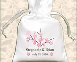 Favor Bag by Personalized Cherry Blossom Drawstring Favor Bags