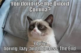 Oxford Comma Meme - the oxford comma